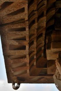 Details in the roof of the Music Hall, Vitthala Temple
