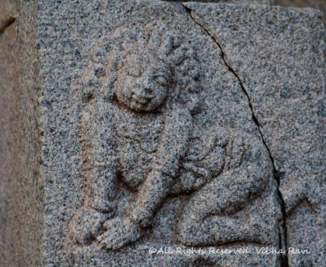Baal Krishna set in stone at Vitthala temple Hampi