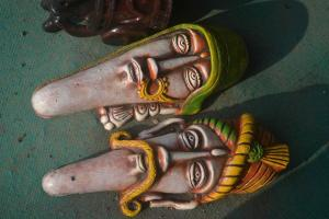 Indian handicrafts used to decorate homes