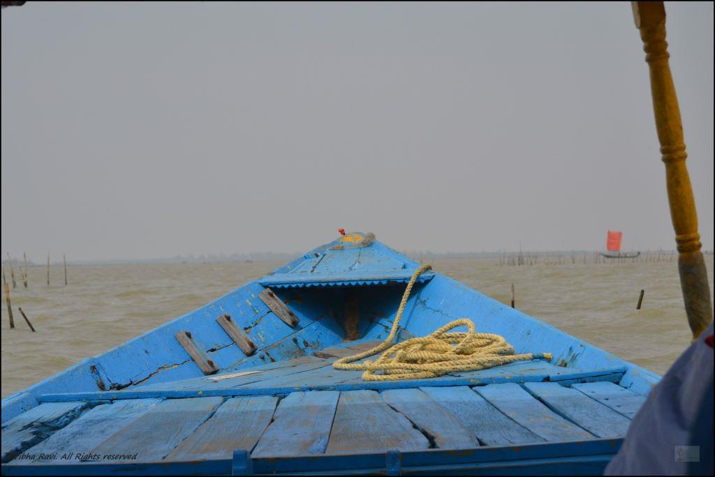 Bow of OTDC boat at Chilika Lake