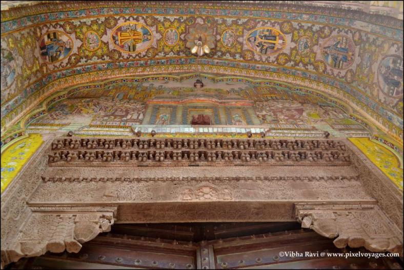 Shekhawati haveli doorways are often the most elaborate part of the exterior