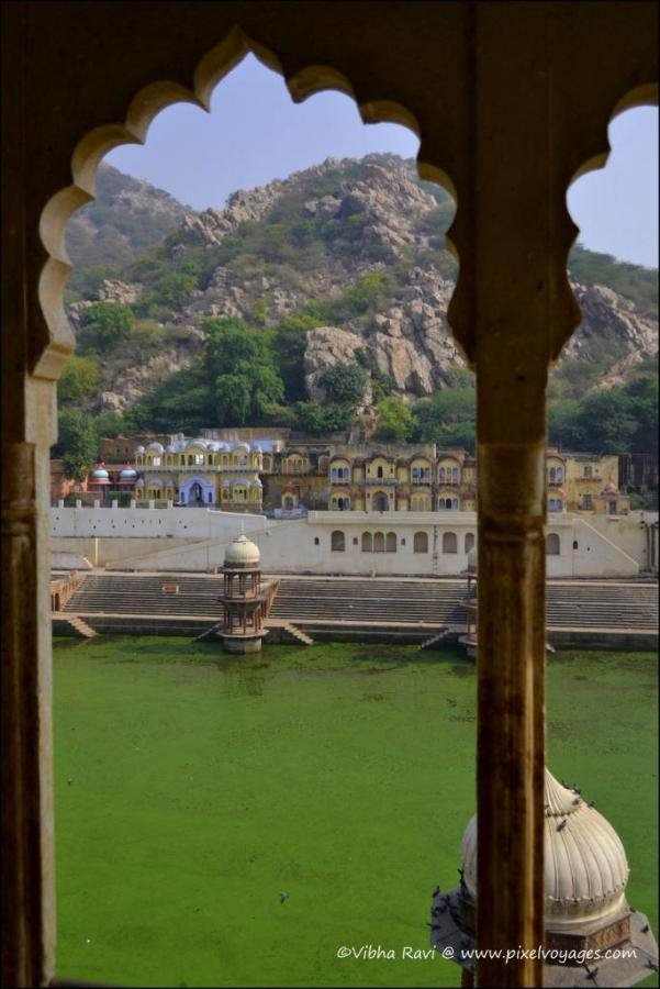 View of Sagar, a water reservoir, from Alwar Museum in City Palace