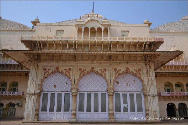 Frontage of Vinay Vilas or City Palace in Alwar