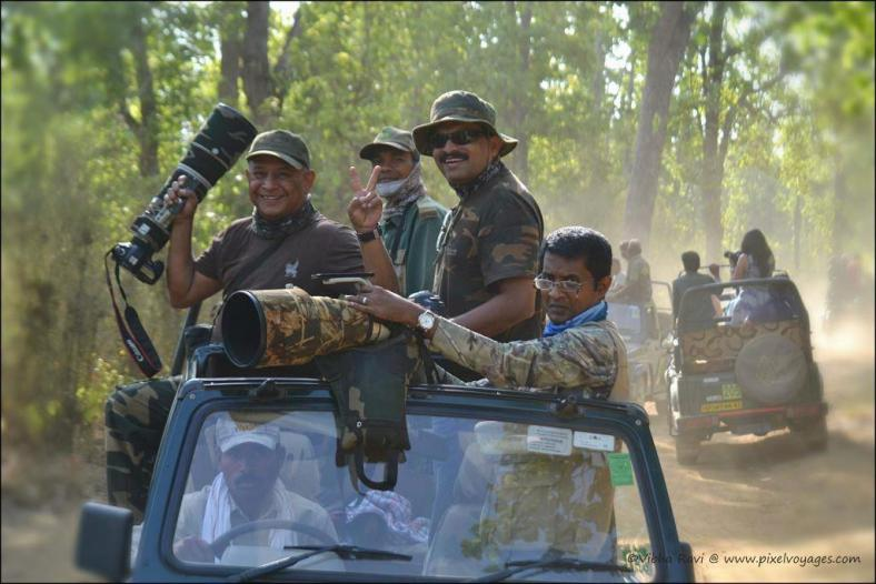 Wildlife photographers usually visit Kanha during summer