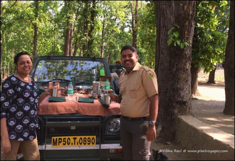 That's me with Sachin at Kanha National Park