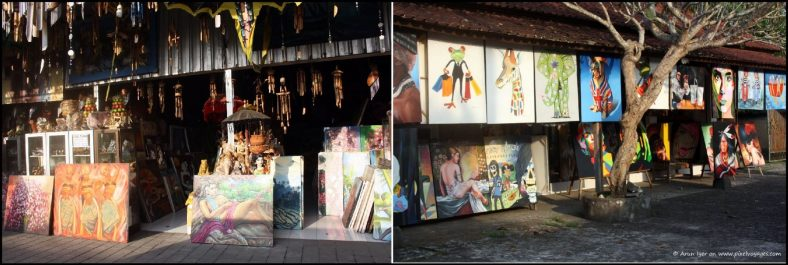 Paintings in Ubud have a diverse range of subjects