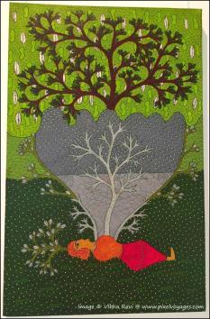 Baasin Kanya or Bamboo Maiden painting by Suresh Kumar Dhurve