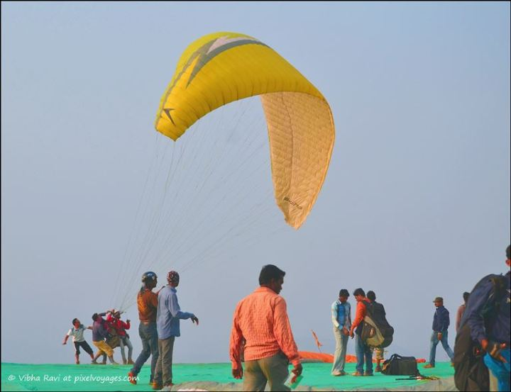 At paragliding site Saputara
