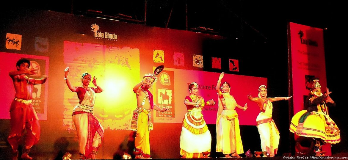 Sannidhi, an amalgam of seven Indian classical dance forms, performed at the Kala Ghoda Arts Festival in 2012
