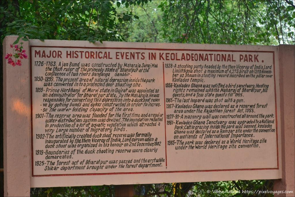 History of Keoladeo National Park Bharatpur