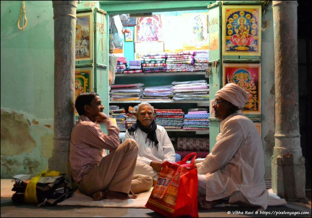 Men at a Mandawa shop