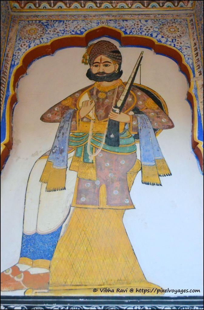 Painting Indian trader/royal Nawalgarh Museum