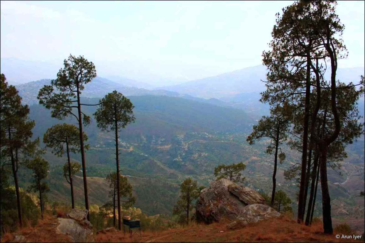 Panoramic view from Kasar Devi temple