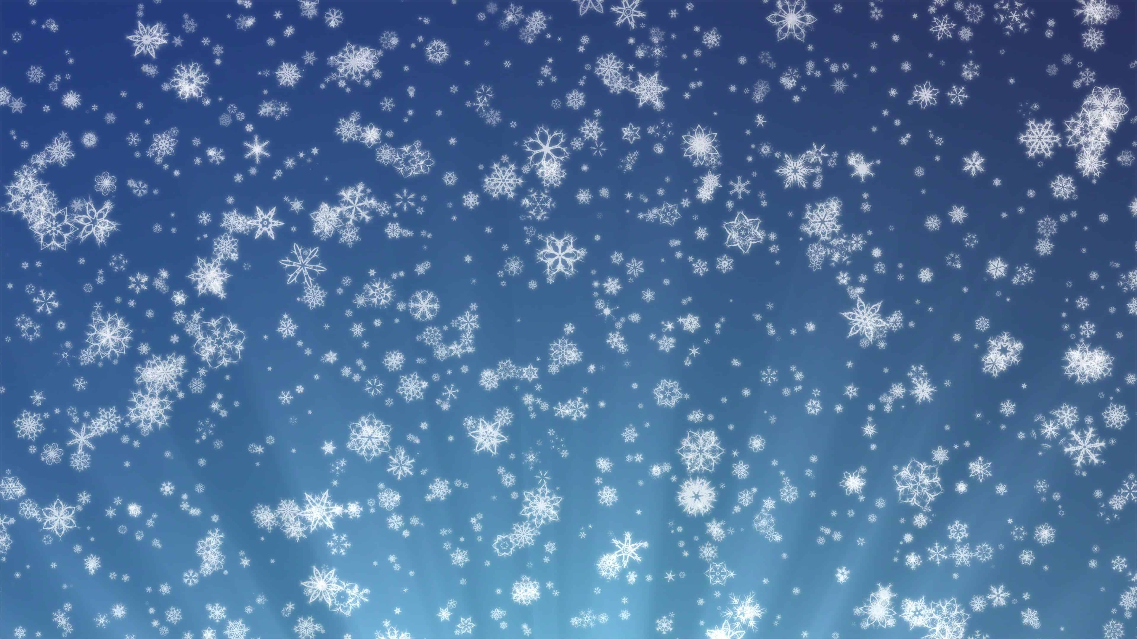 Animated Snow Falling Wallpaper Free Download Snowflakes On A Blue Background Uhd 4k Wallpaper Pixelz