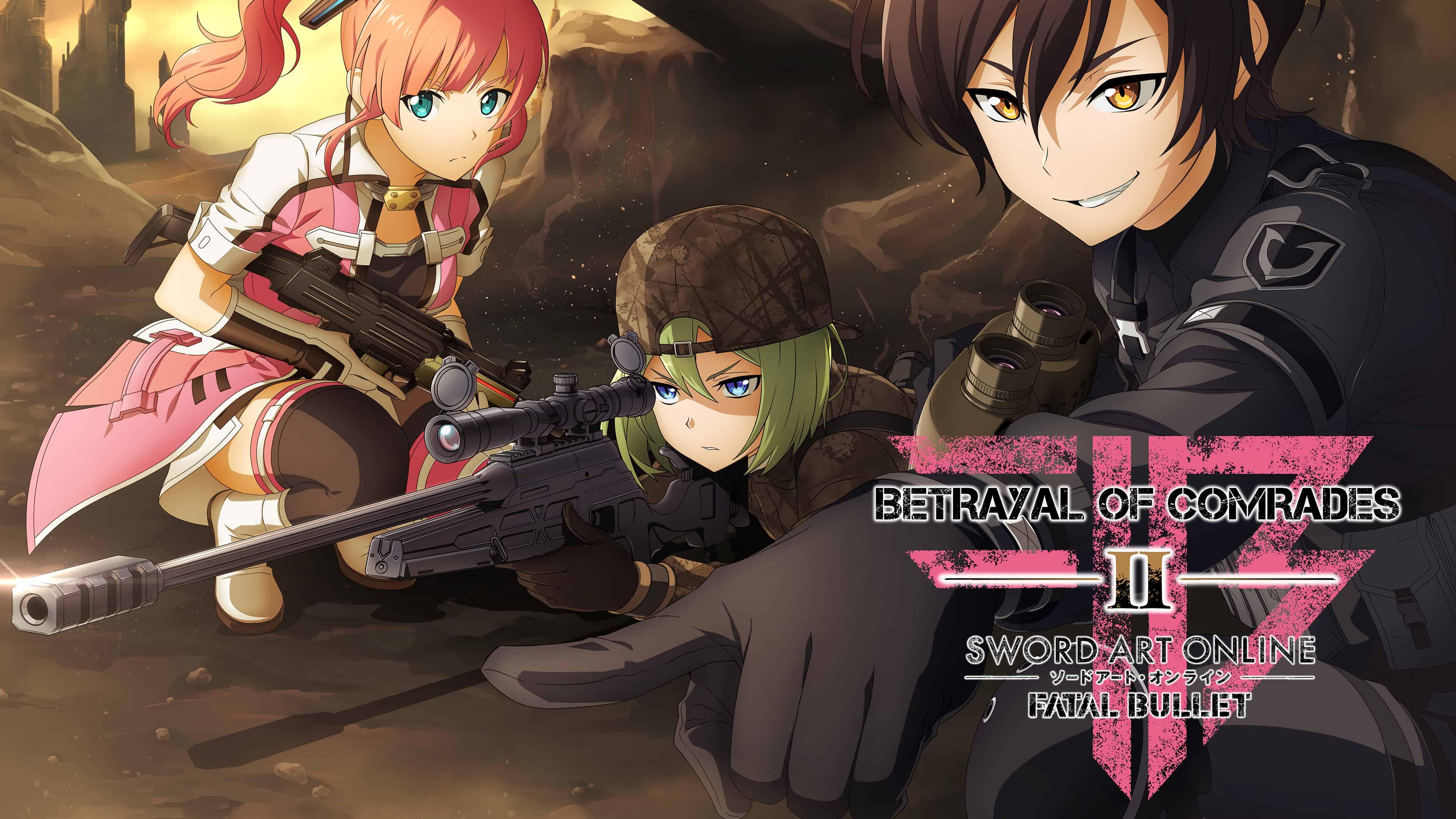 Anime Girl With Gun Double Monitor Wallpaper Sword Art Online Fatal Bullet Betrayal Of Comrades Uhd 4k
