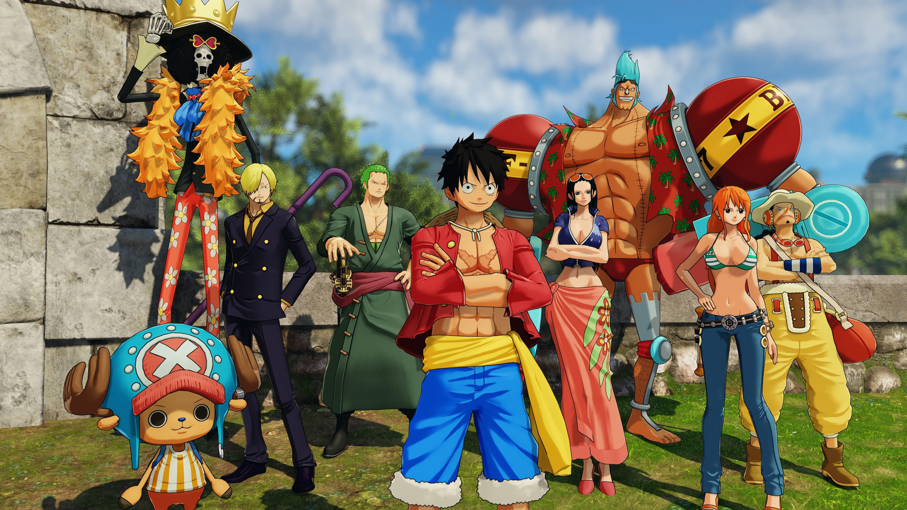 By now, most people are used to hdtv, and a growing number are making the jump to 4k ultra hd tv. One Piece World Seeker Characters UHD 4K Wallpaper   Pixelz
