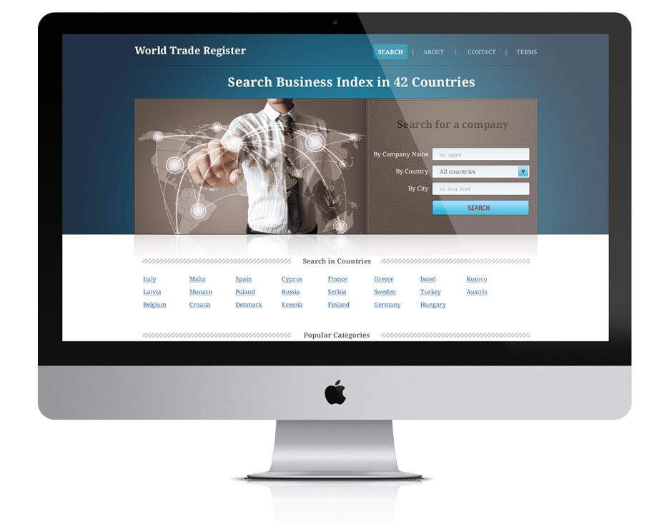 Pixelzen Portfolio World Trade Register design