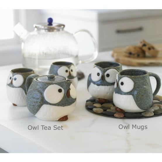 owl tea service