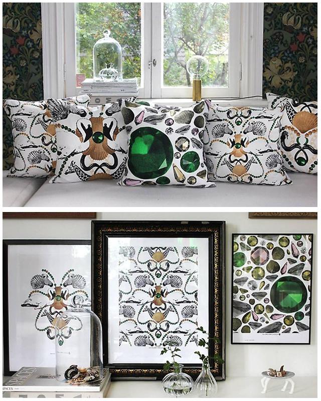 Zebra na poduszkach i wydrukach,Lisa Bengtsson