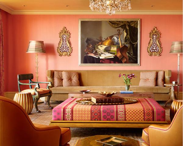 Elegant Peach Home Decor