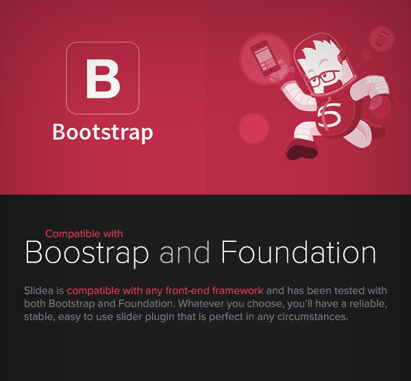 Slidea - Bootstrap and Foundation