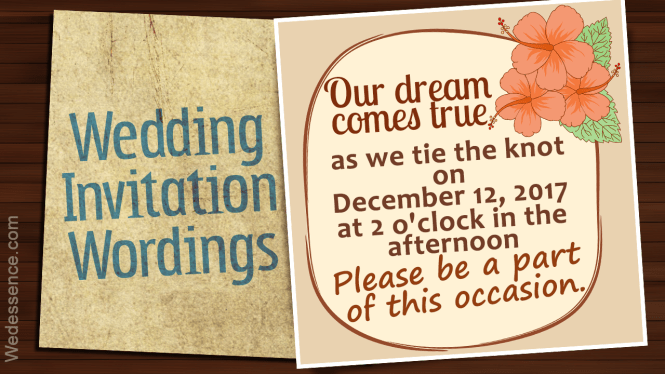 Informal Wedding Invitation Wordings For An Affectionate Touch