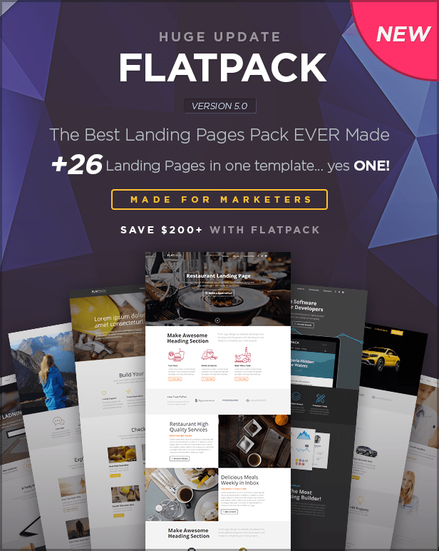 FLATPACK – Landing Pages Pack With Page Builder - 11