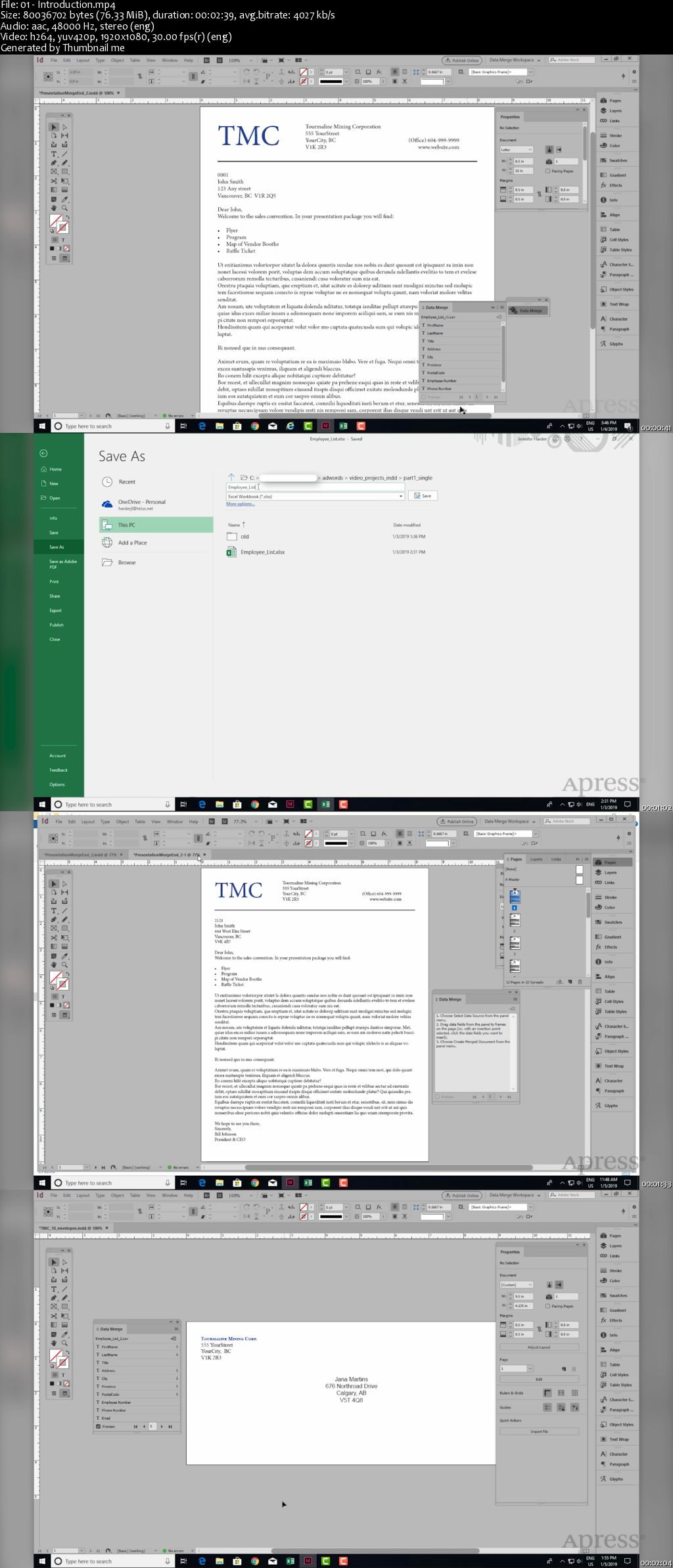 Beginning Data Merge With Adobe Indesign Cc Quickly Create Files Using An Excel Spreadsheet