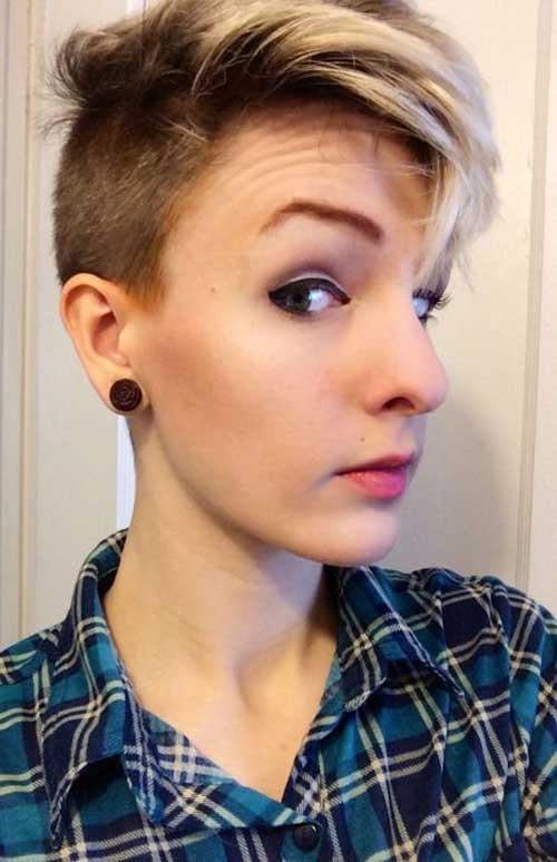 Shaved Sides Pixie : shaved, sides, pixie, Shaved, Pixie, Haircut