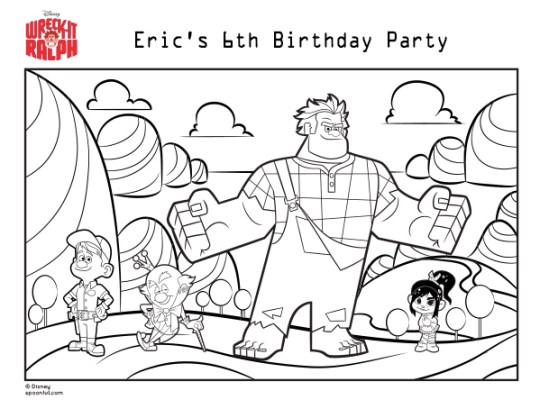 wreck-it-ralph-coloring page