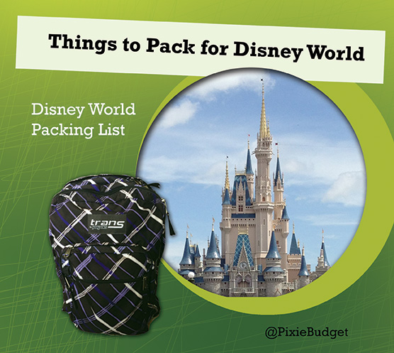 things to pack for disney