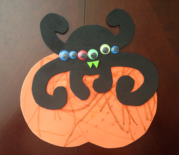 DIY Pumpkin Spider Halloween Craft for Kids