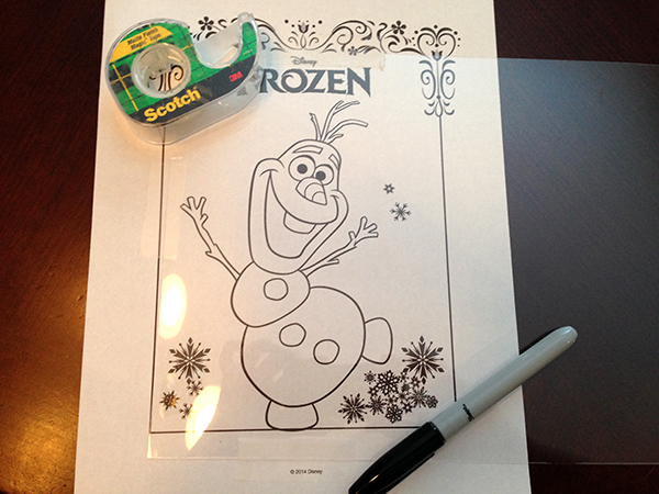 DIY Frozen Christmas Ornamant