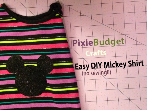 Super Easy DIY Mickey Shirt - No Sewing!
