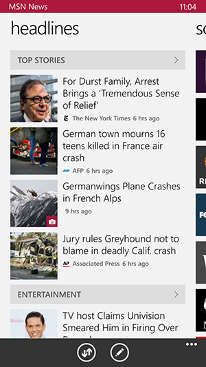 MSN News Headlines News App