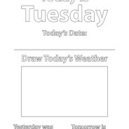 Days of the Week Coloring Sheets