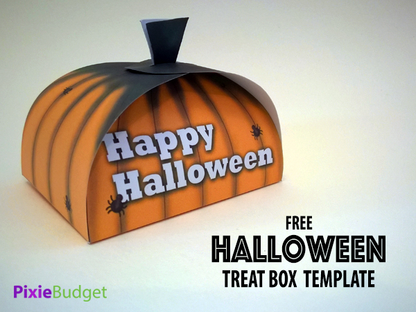 Free Halloween Treat Box Printable Template