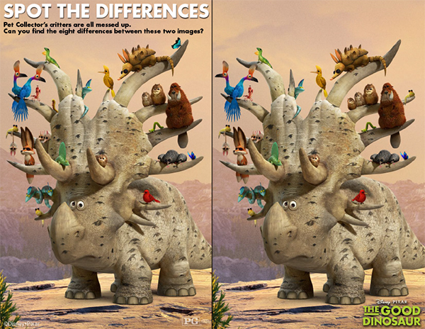 Good Dinosaur Spot the Difference