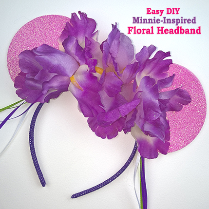 Easy DIY Minnie-Inspired Floral Headband