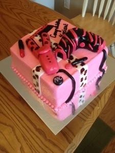 Cosmetology School Graduation Cake  Pixie Cakes