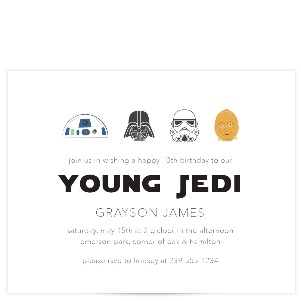 star wars birthday invitation pixie