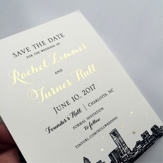 Luxe Gold Foil Wedding Invitations