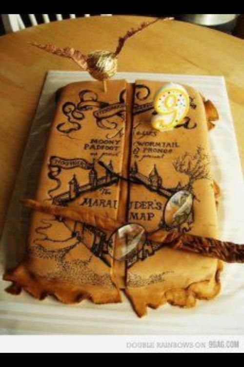 Marauders Map Cake  Harry Potter  Homeade Gifts  Decorations Recipes Crafts DIY