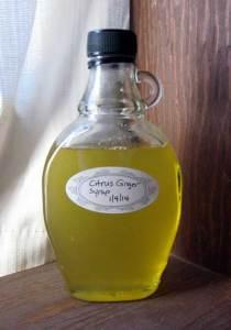 ginger citrus syrup