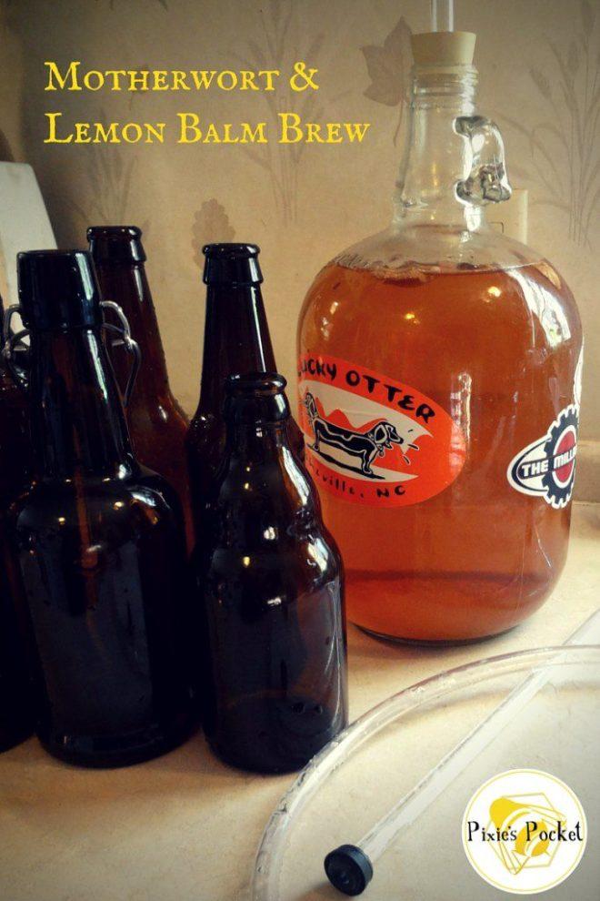 motherwort and lemon balm brew - one gallon recipe from pixiespocket.com!