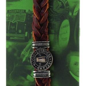 Guinness Ireland Brown Leather Pint Bracelet