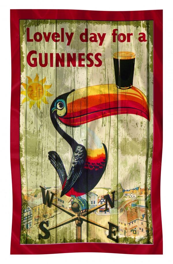 Nostalgic Guinness Toucan Kitchen Towel - Pixie Treasures Celtic Shoppe