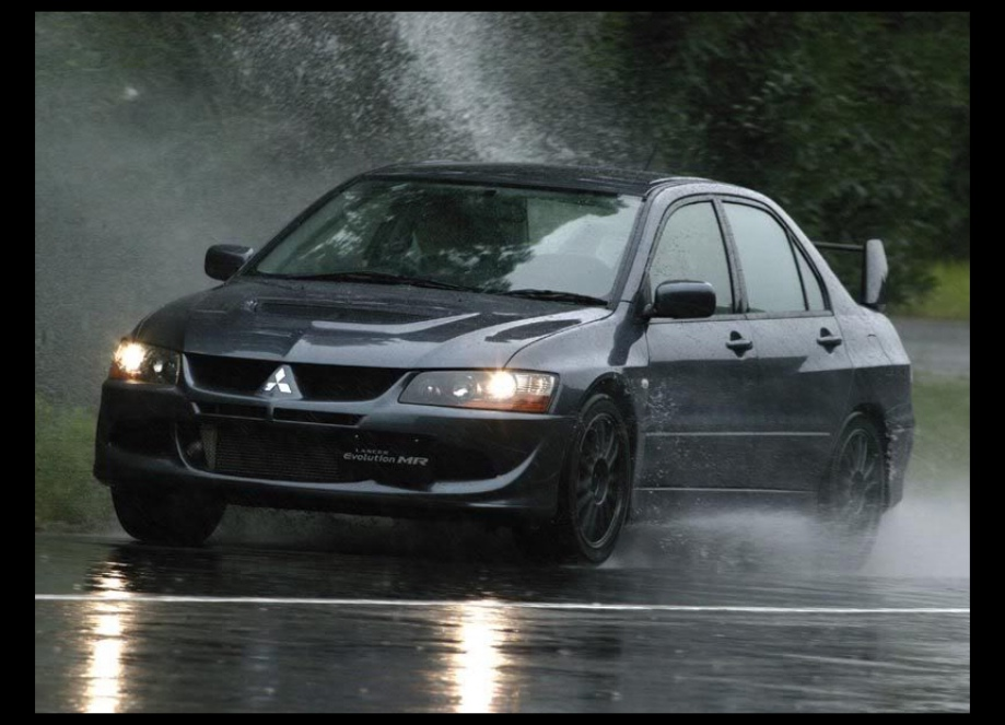 Fast cars and motorcycles in the rain  Vehicles