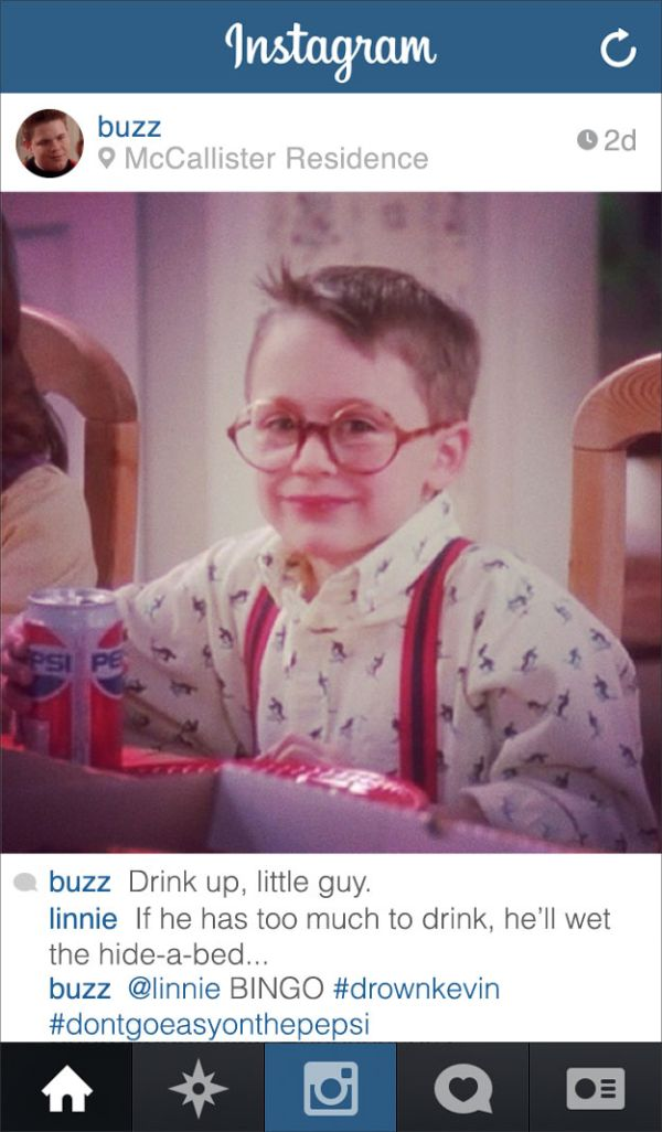 If Buzz From Home Alone Had Instagram Fun