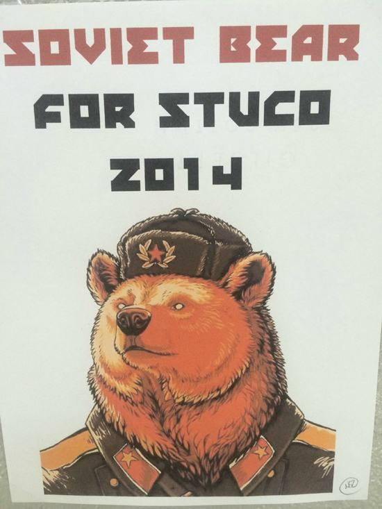 Vote Soviet Bear In For Student Council  Others